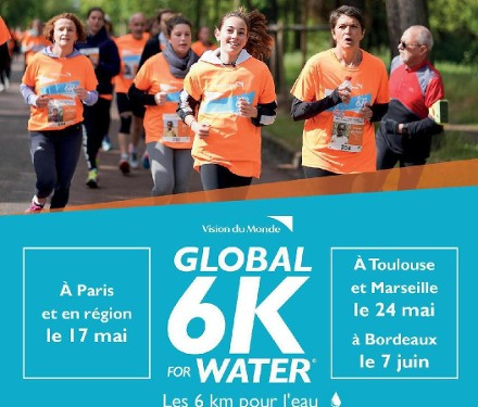 Photographe pour une course solidaire : Global 6K for water